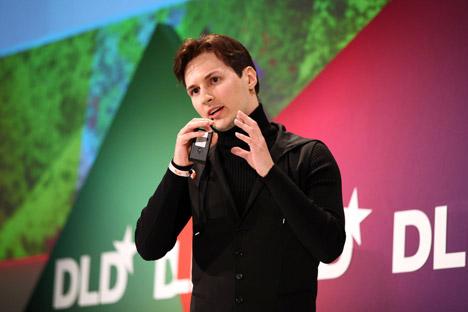Pavel Durov - Vkontakte na konferenci v Mnichově